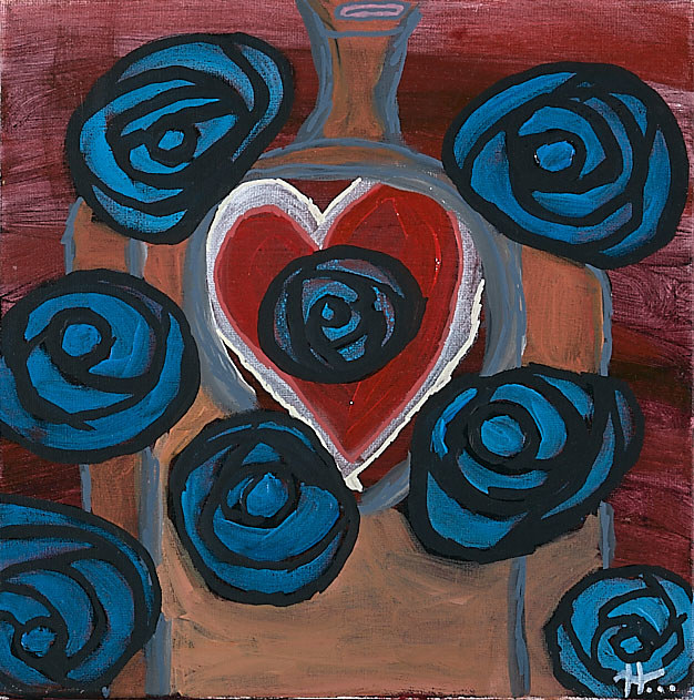 Acrylic painting An Open Heart by Kyle Heinly