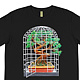 Bonsai birdcage black shirt front by Isaac Carpenter