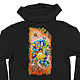 California Doodle American Apparel Hoodie Black by Isaac Carpenter