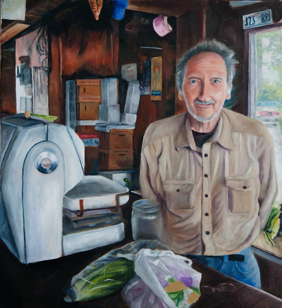 Oil painting Potatoes Joe by Kathleen Gross