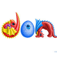 "Print Dragon Babies ""Don"" in custom multi-colors by Sue Ellen Brown"