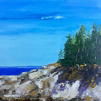 "Oil painting ""Acadia Park Loop"" by Anne French"
