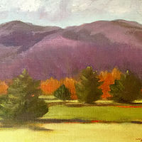 "Oil painting ""Afton View"" by Anne French"