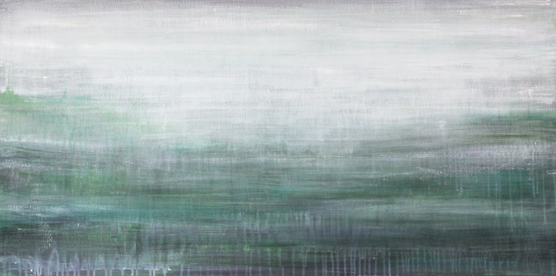 Acrylic painting Gone with the Fog by Laura Spring