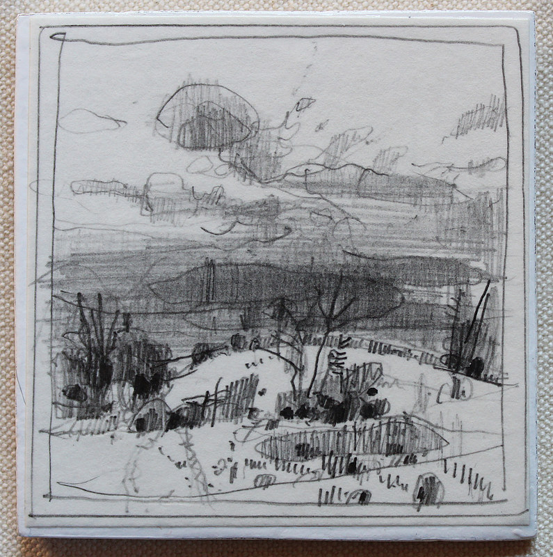 Drawing Secret Field, October 5 by Harry Stooshinoff