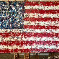 freedom flag.48x72 by Jeffrey Newman