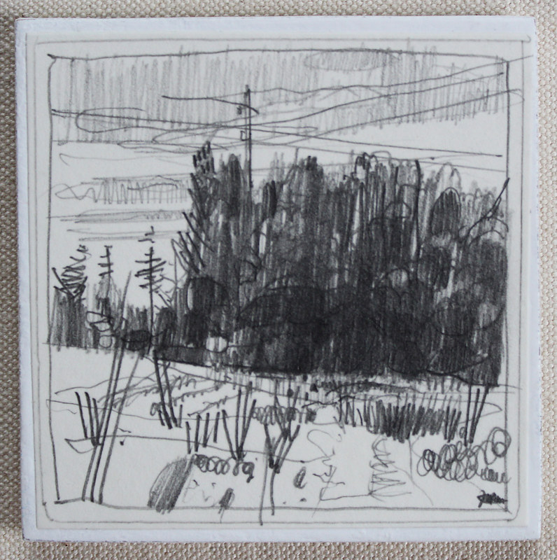 Drawing From the Churchyard by Harry Stooshinoff