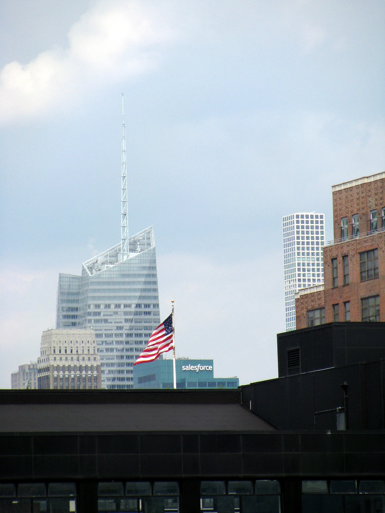 Flag From Whitney Rooftop by Sebastian Evans