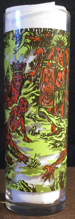 INFERNO ROOM 1 YEAR ANNIVERSARY ZOMBIE GLASS by Kenneth M Ruzic