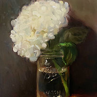 """Hydrangea in a Mason Jar""  by Noah Verrier"
