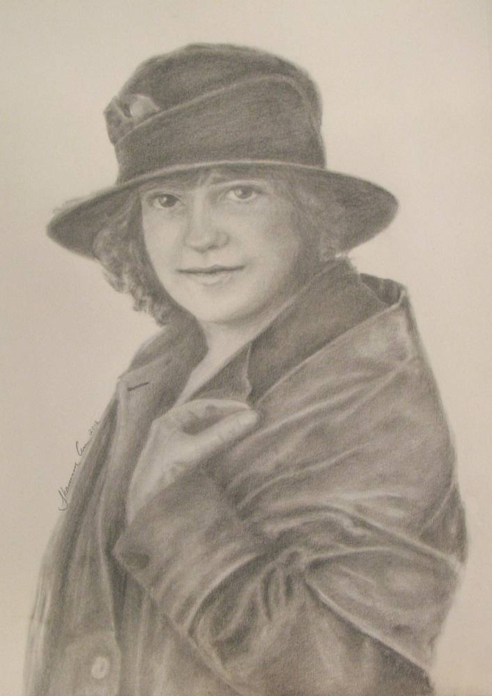 Drawing My Grandmother, Ethel by Shannon Coyle