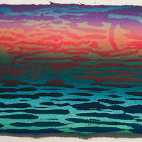 "Print Moontide (6""X12"") by Cathie Crawford"