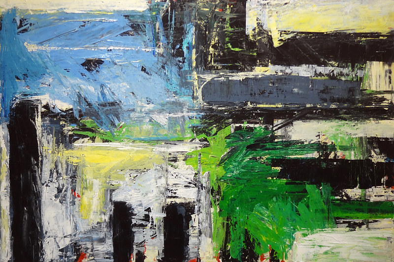Acrylic painting Urbania No. 20 by David Tycho