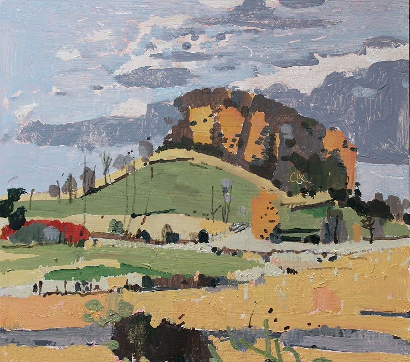 Acrylic painting 10 Saved Acres, October 20  by Harry Stooshinoff