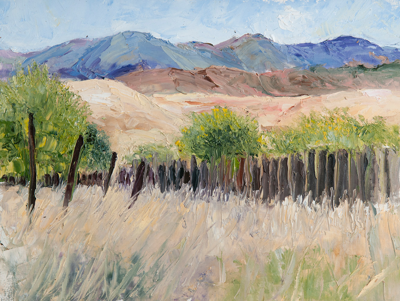 Oil painting Ghost Ranch01 by Kathleen Gross