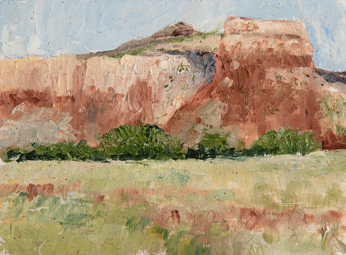 Oil painting Ghost Ranch03 by Kathleen Gross