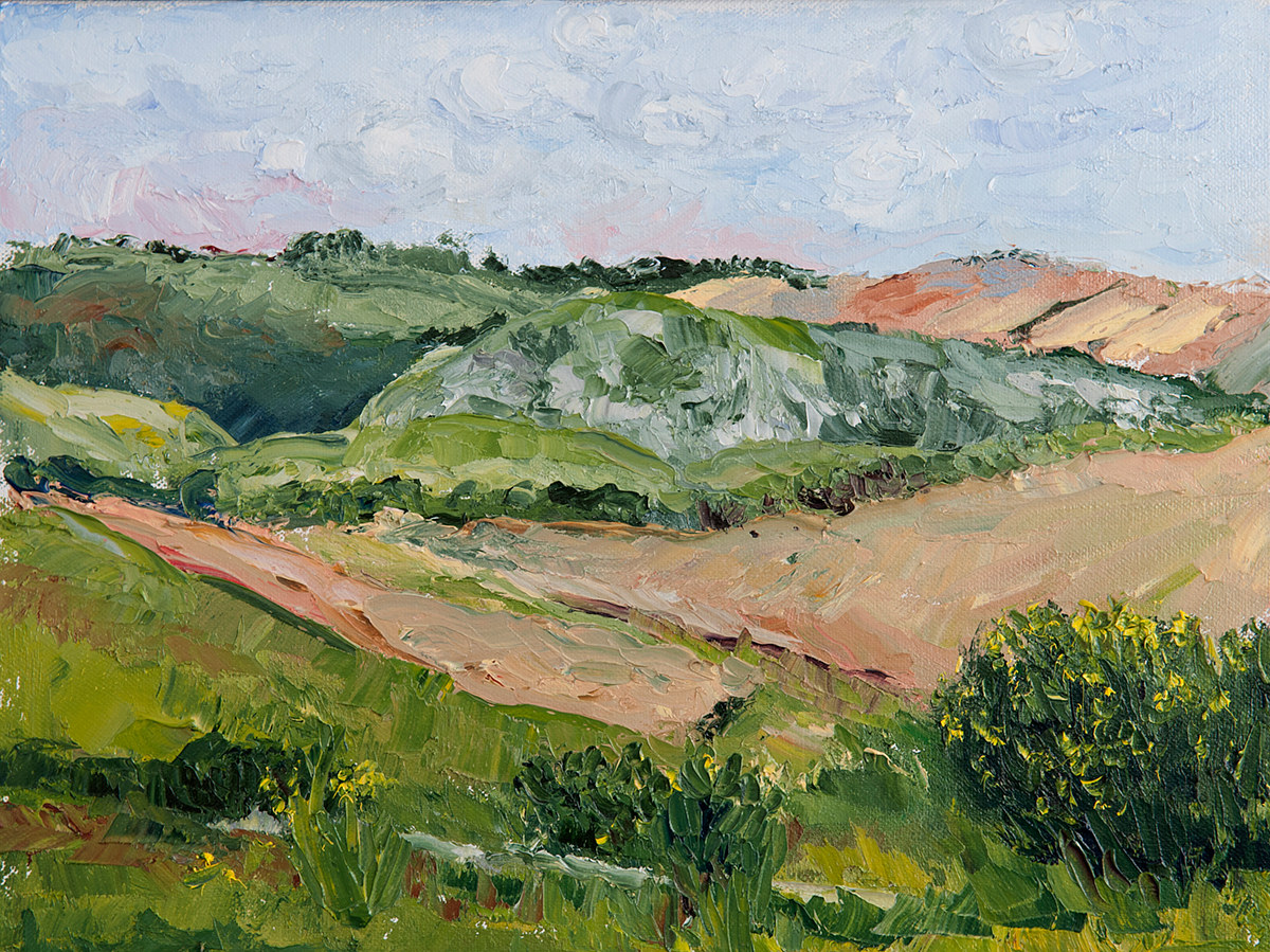 Oil painting Val d'Orcis02 by Kathleen Gross