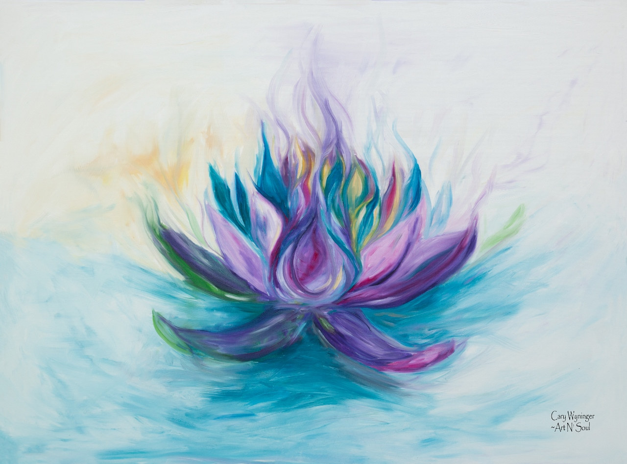 Print Violet Flame Lotus by Kiley Yttri