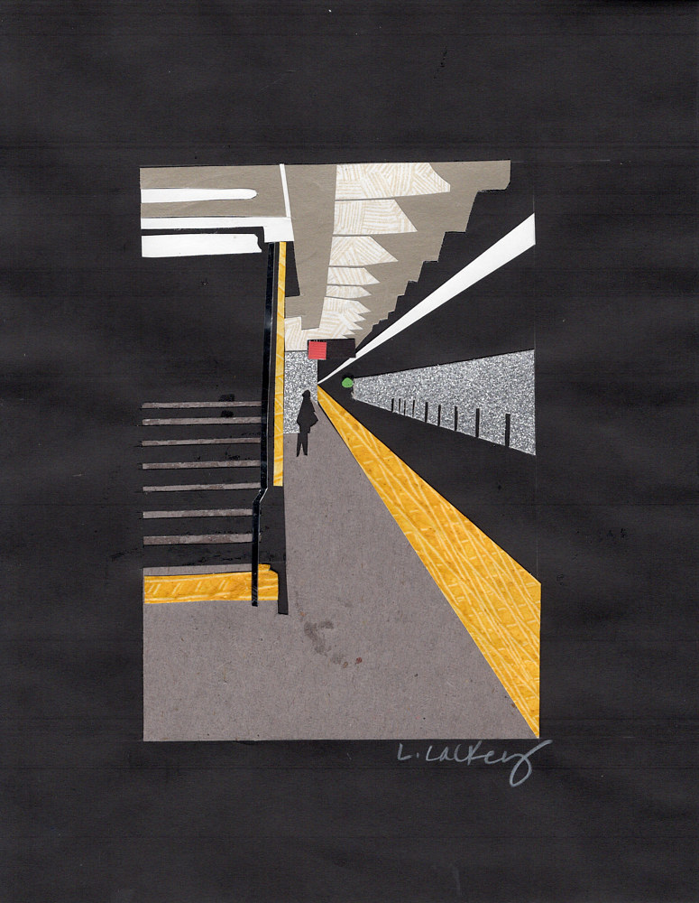 Drawing 10/10 Subway Platform by Lisa Lackey