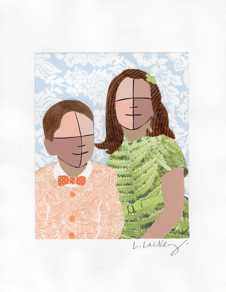 Drawing 10/18 My Brother & I by Lisa Lackey