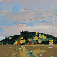 Acrylic painting South Hill, October 21 by Harry Stooshinoff
