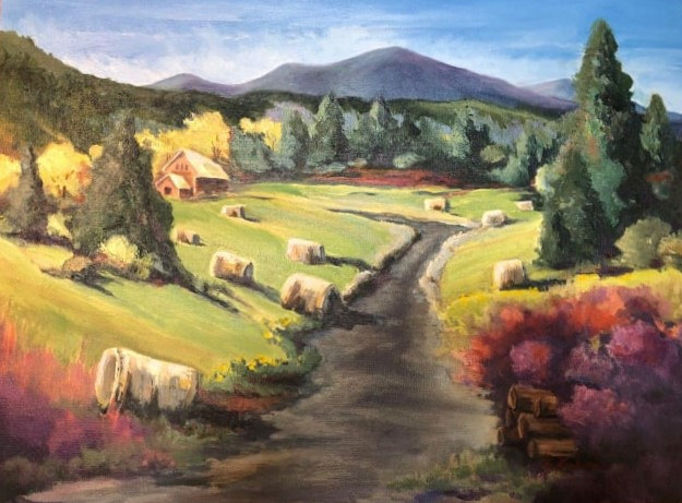Sagle hay bales by connie scherr