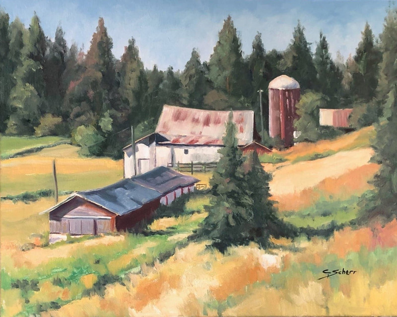 Summerfield farm, Sagle, Idaho by connie scherr