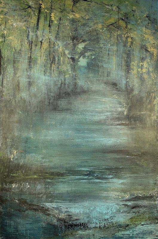 Print Mill Creek III by Marion Krahn