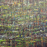 Acrylic painting Forest Rhythms No. 6 by David Tycho