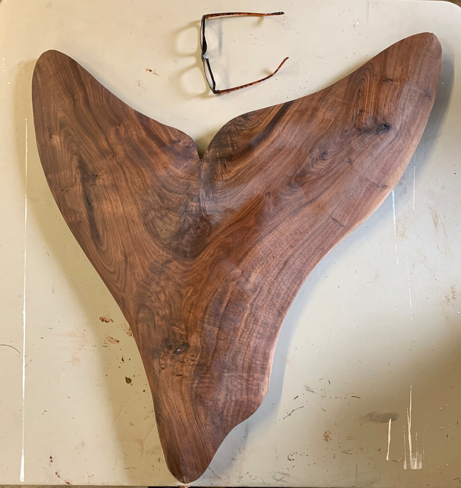 Walnut Whale  Tail by Terry Ogle