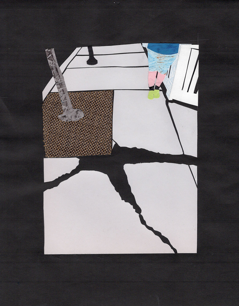 Drawing 9/30 Crack in the Sidewalk by Lisa Lackey