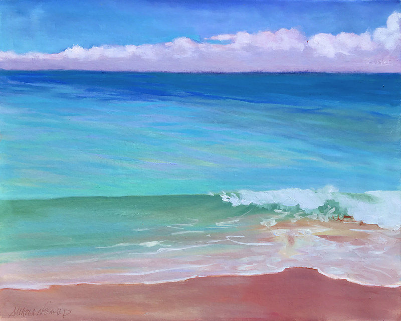 Oil painting North Shore Blows Me Away (Again) by Pamela Neswald
