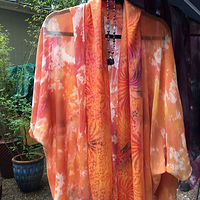 Painting Kimono & Scarf by Terry Ogle