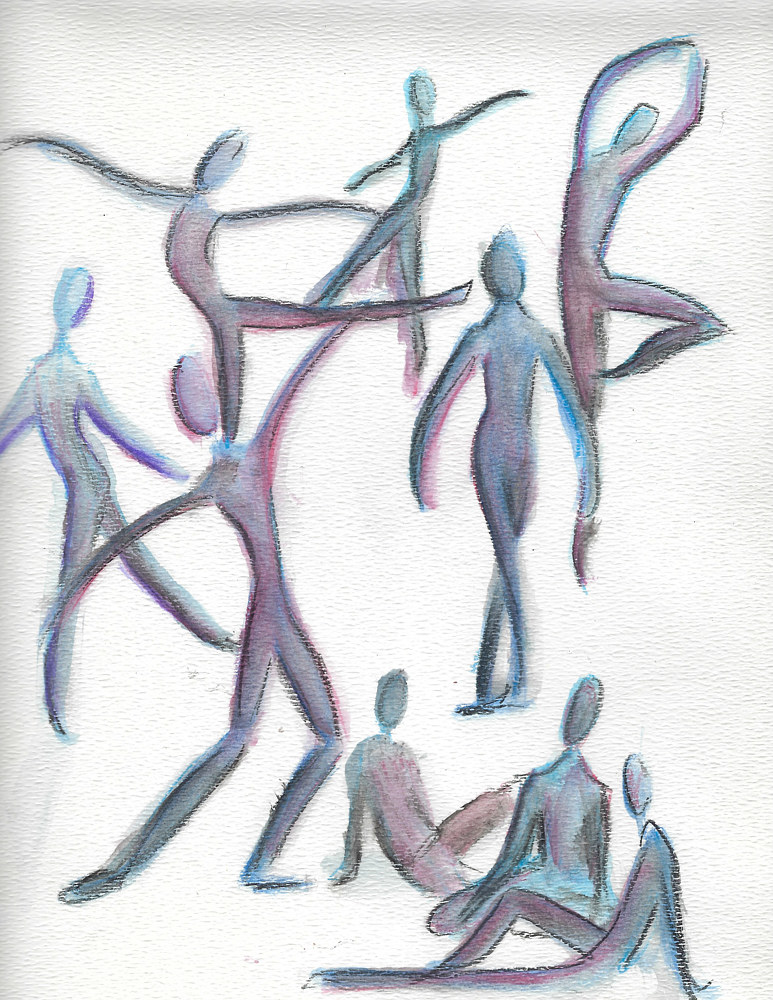 Watercolor gesture by Trish Becker