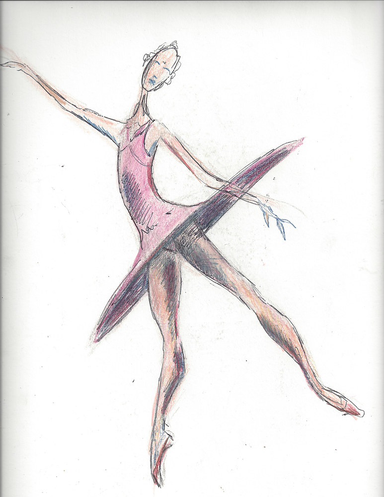 Watercolor dance2 illustration by Trish Becker