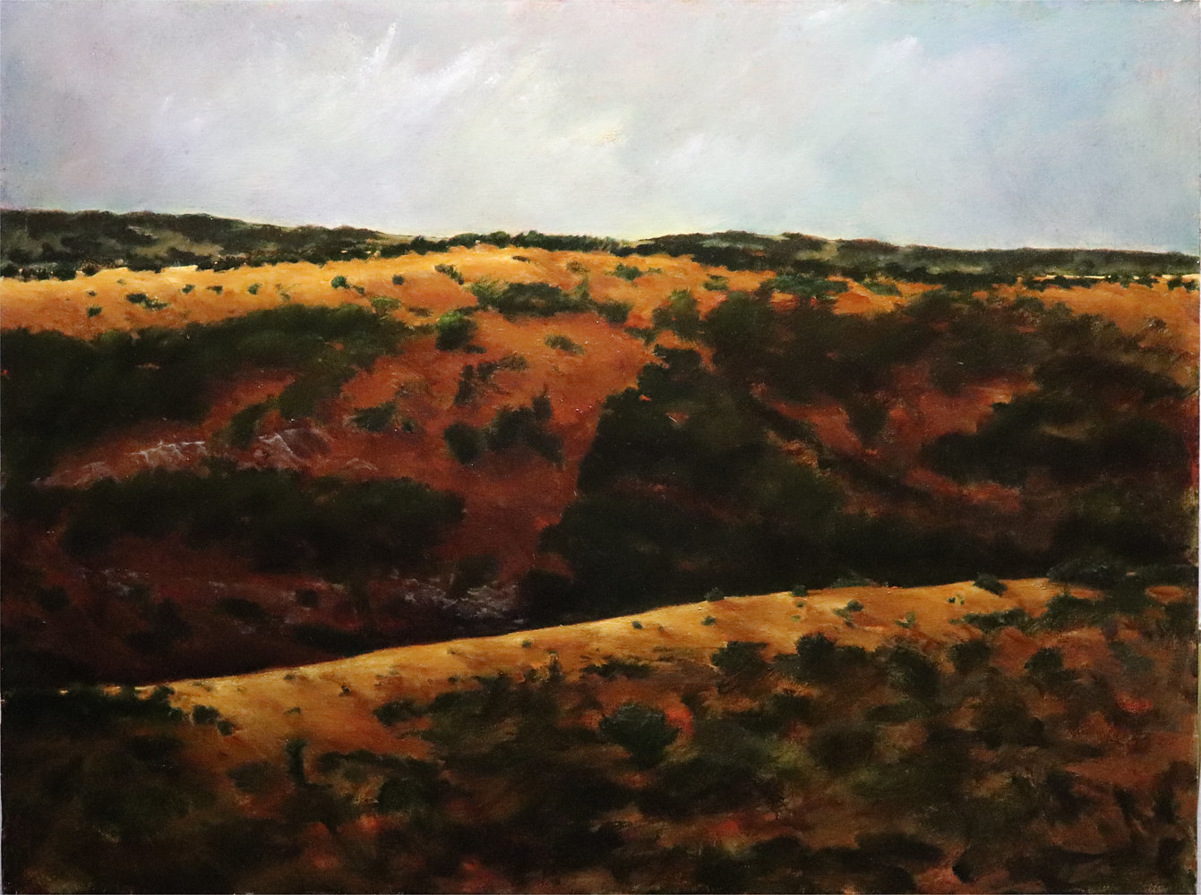 From Haldon's Ridge, 5-L Ranch, Leakey Texas 30x40 by Gary Nowlin