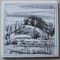 Drawing 10 Saved Acres, October 19 by Harry Stooshinoff