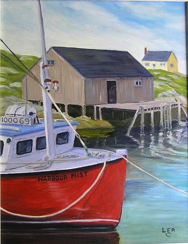 12x16harbour mist by Cecilia Lea