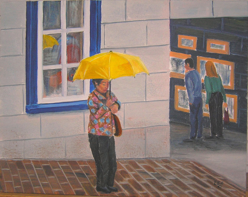 11x14TheYellowUmbrella by Cecilia Lea