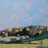 Acrylic painting Garden Hill Evening, October 28 by Harry Stooshinoff