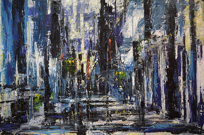 Acrylic painting Urbania No. 14 by David Tycho