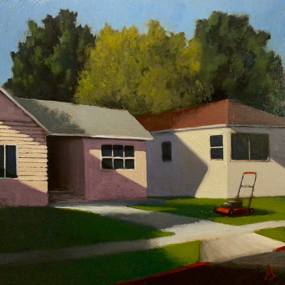 Oil painting Suburban Landscape 5 by Alex Selkowitz