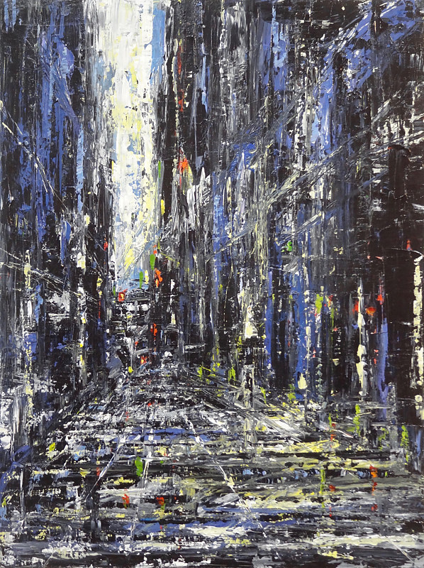 Acrylic painting Urbania No. 9 (Metropolis)  by David Tycho