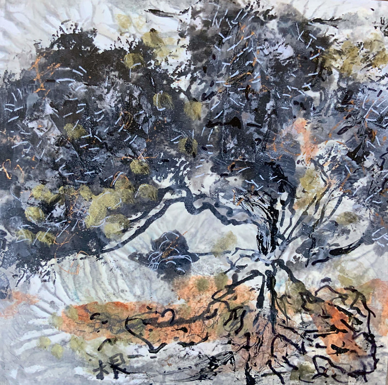Painting Giant Tree by Catherine Mansell