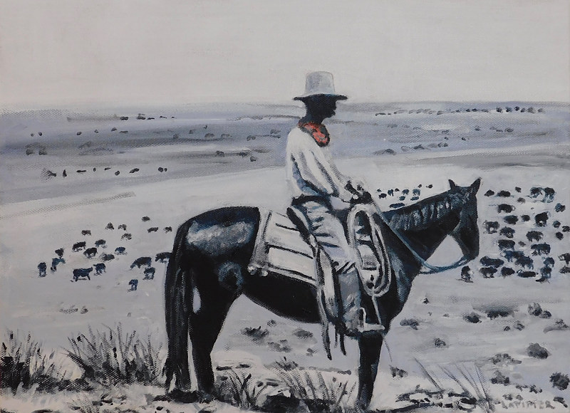 Oil painting Open Range by Steve Latimer