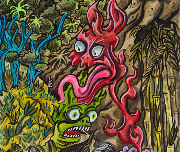 """Night of the Yokai"" Detail by Kenneth M Ruzic"