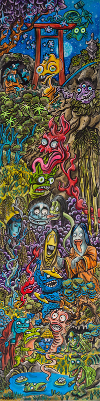 "Acrylic painting ""Night of the Yokai"" by Kenneth M Ruzic"