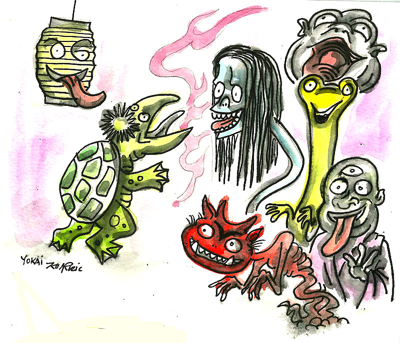 """Night of the Yokai""Sketchbook Study by Kenneth M Ruzic"