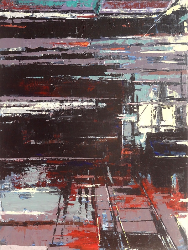 Acrylic painting Urbania No. 16 by David Tycho