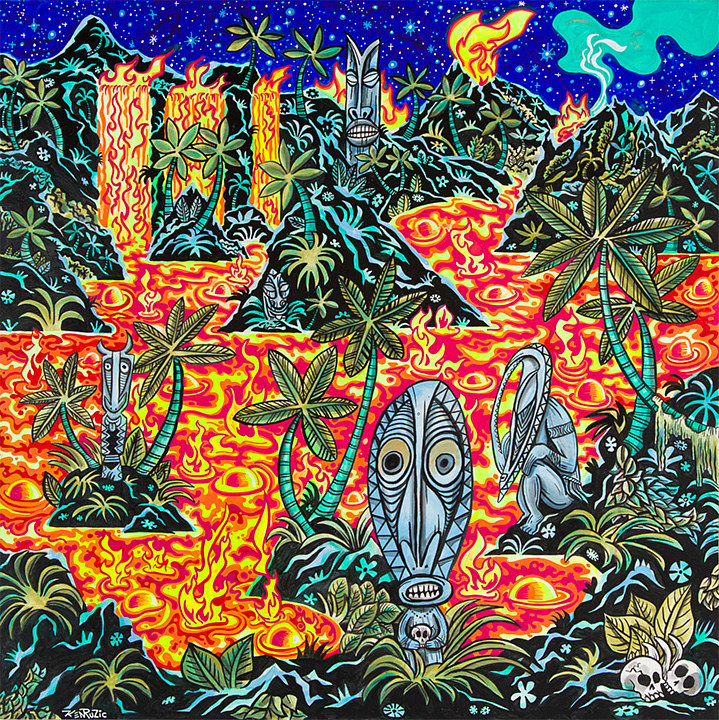 "Acrylic painting ""the Place of Sacrifice"" by Kenneth M Ruzic"